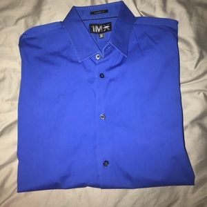 Express Men's Royal Blue Dress Shirt